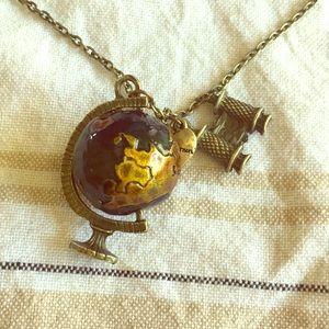 Betsey Johnson Spinning Globe Necklace
